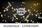 modern realistic gold tinsel... | Shutterstock .eps vector #1250814685