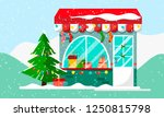 christmas gift or presents shop.... | Shutterstock .eps vector #1250815798
