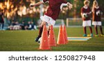 football drills  the slalom... | Shutterstock . vector #1250827948