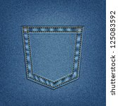 jeans pocket in vector eps 10.... | Shutterstock .eps vector #125083592
