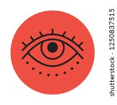 eye tattoo flat icon. you can...