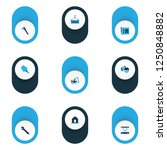 construction icons colored set... | Shutterstock .eps vector #1250848882