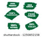 organic  bio  eco  natural... | Shutterstock .eps vector #1250852158