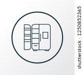 fridge icon line symbol.... | Shutterstock .eps vector #1250852365