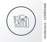 bull market icon line symbol.... | Shutterstock .eps vector #1250852368