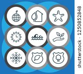 ecology icons set with protect... | Shutterstock .eps vector #1250852848