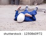 workplace accident at...   Shutterstock . vector #1250860972