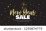 happy new year sale . vector... | Shutterstock .eps vector #1250874775