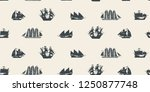 vector seamless pattern on the... | Shutterstock .eps vector #1250877748