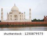 the stunning taj mahal in agra | Shutterstock . vector #1250879575