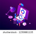 data analysis   modern colorful ... | Shutterstock .eps vector #1250881135