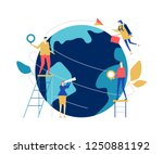 global business   flat design... | Shutterstock .eps vector #1250881192
