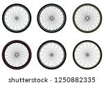 bicycle wheels. vector isolated. | Shutterstock .eps vector #1250882335