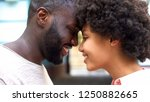 cheerful couple nuzzling ... | Shutterstock . vector #1250882665