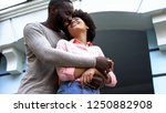 sweethearts hugging  newlyweds... | Shutterstock . vector #1250882908