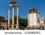 roman ruins in rome  forum | Shutterstock . vector #125088392