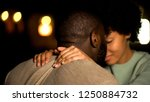 lovers couple nuzzling ... | Shutterstock . vector #1250884732