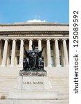 Small photo of Columbia University Library and statue of Alma Mater, Manhattan, New York City, USA