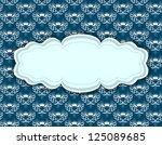 vintage frame on seamless... | Shutterstock . vector #125089685