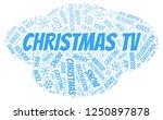 christmas tv word cloud. | Shutterstock . vector #1250897878