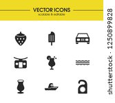 season icons set with wineglass ...