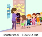 illustration of stickman kids... | Shutterstock .eps vector #1250915605