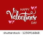 Stock vector valentines day lettering background 1250916868