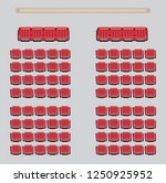 top view show seat in the... | Shutterstock .eps vector #1250925952