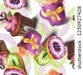 hand painted watercolor ...   Shutterstock . vector #1250927428