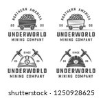 set of retro mining or... | Shutterstock . vector #1250928625