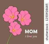 happy women's day and mother's...   Shutterstock .eps vector #1250928685