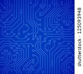 vector circuit board. blue...   Shutterstock .eps vector #125093948