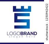 fortress castle initial s logo... | Shutterstock .eps vector #1250942422