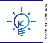 ke initial letter with creative ... | Shutterstock .eps vector #1250948968