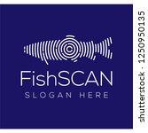 fish scan technology logo...   Shutterstock .eps vector #1250950135