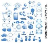 communication icons set   Shutterstock .eps vector #125095646