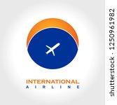 international airline logo   Shutterstock .eps vector #1250961982