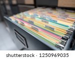 important documents in the... | Shutterstock . vector #1250969035