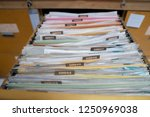 important documents in the... | Shutterstock . vector #1250969038