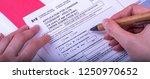 filling application  female... | Shutterstock . vector #1250970652