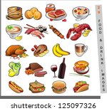 20 food images | Shutterstock .eps vector #125097326