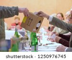 collecting ballots in an... | Shutterstock . vector #1250976745