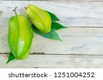 close up star fruit carambola... | Shutterstock . vector #1251004252