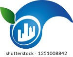 eco city drops and leaf logo | Shutterstock .eps vector #1251008842
