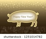 happy new year 2019 greeting... | Shutterstock .eps vector #1251014782