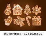 Gingerbread Christmas Symbols ...