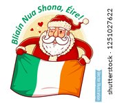 happy new year ireland   santa... | Shutterstock .eps vector #1251027622
