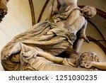 Sculpture the Rape of Polyxena, Loggia dei Lanzi, Piazza della Signoria by the sculptor Pio Fedi 1865, in Florence, Tuscany, Italy