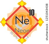 neon form periodic table of... | Shutterstock .eps vector #1251043438