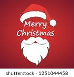 merry christmas vector concept... | Shutterstock .eps vector #1251044458